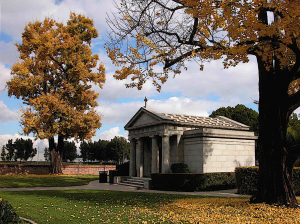 building at the cemetery