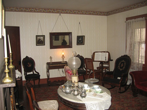 the interior of the house