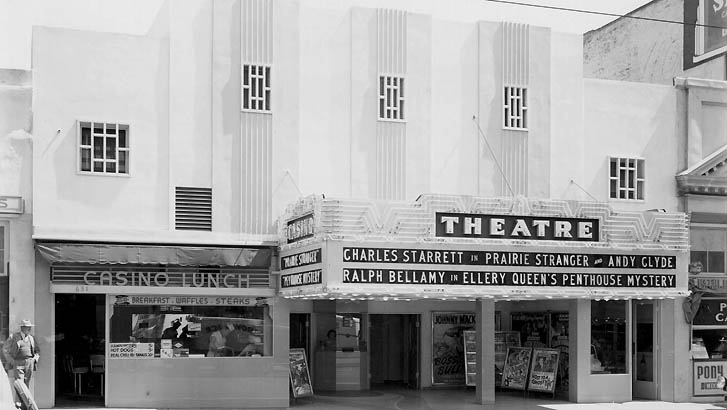 The Casio Theatre, seen here in an external shot, form across the street, in the early Twentieth Centrury has more than its fair share of ghosts